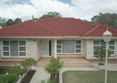 After red tile roof was restored by Roof Seal